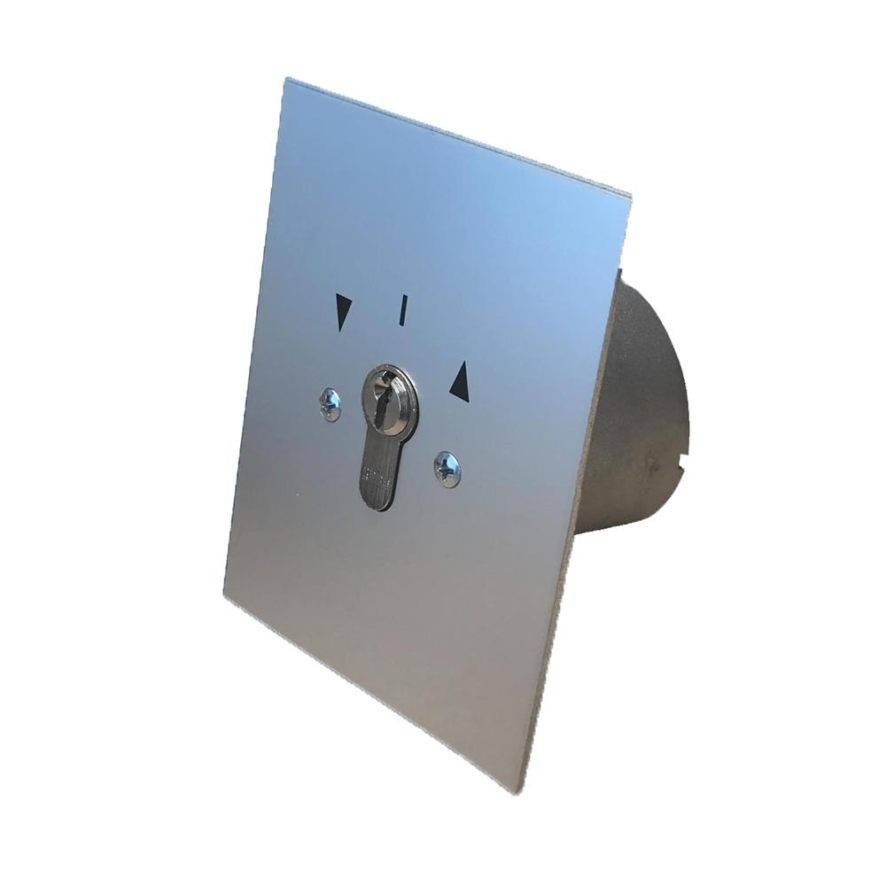 GEBA Sleutelschakelaar inbouw rond JR2T