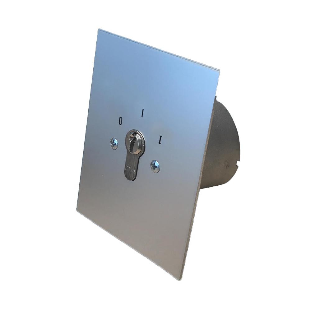 GEBA Sleutelschakelaar inbouw rond JR1R