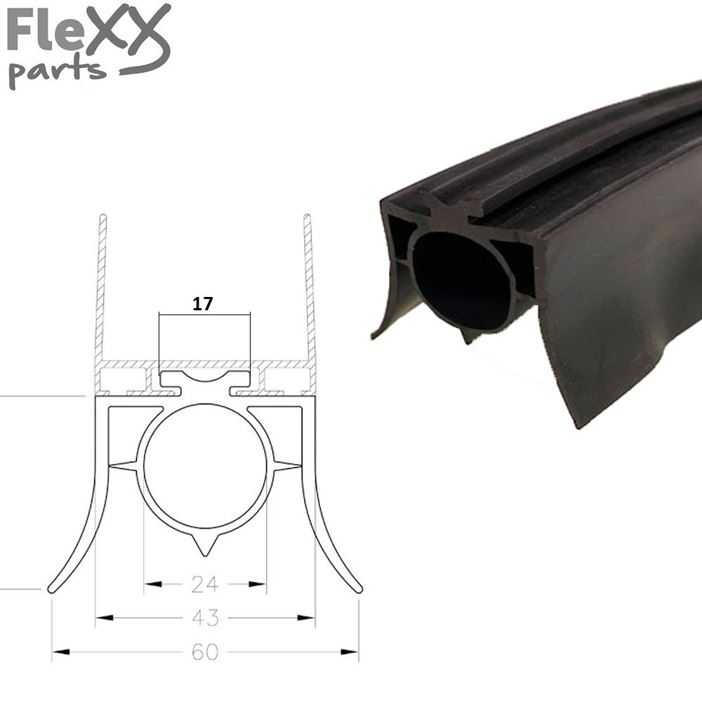 Bodemrubber voor luchtschakelaar (25 mm)