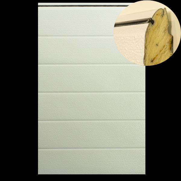 Multideur paneel STAAL - 40x610mm - stucco/stucco