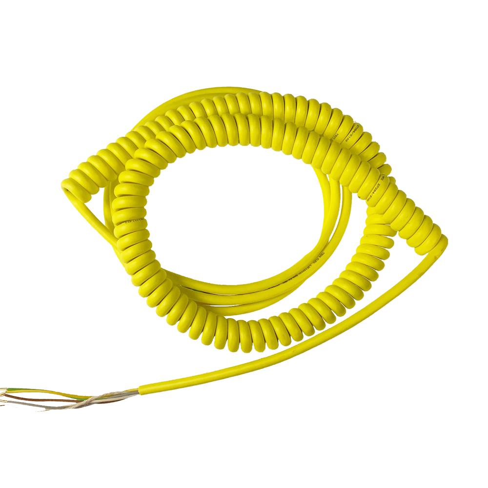 Spiraalkabel geel 5x0,5 mm² (800 mm)